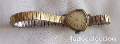 Relojes de pulsera: RELOJ DE CUERDA SEÑORA TRIANGULAR RARO - Foto 2 - 150558302