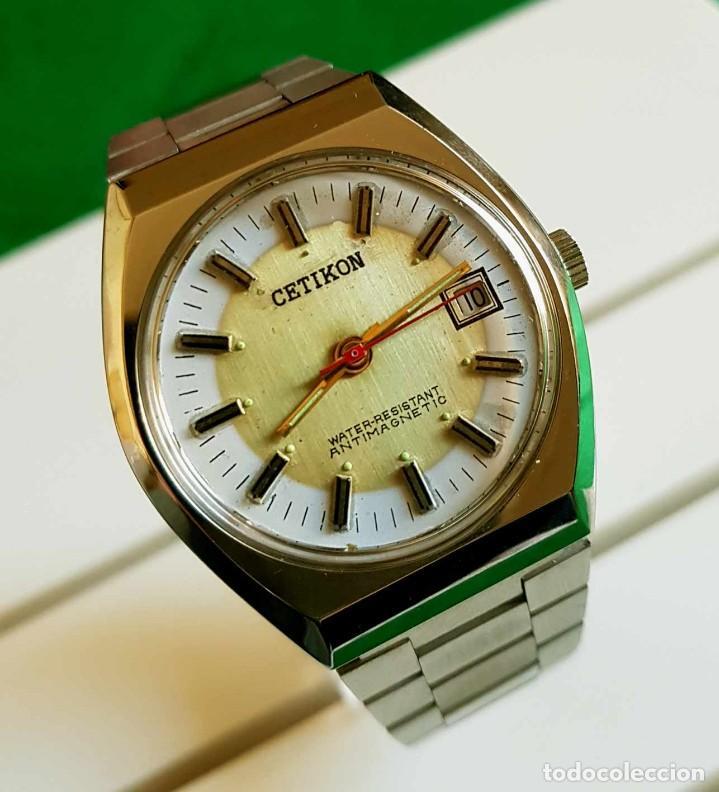 CETIKON DE CUERDA VINTAGE, C1970 NOS (NEW OLD STOCK) (Relojes - Pulsera Carga Manual)