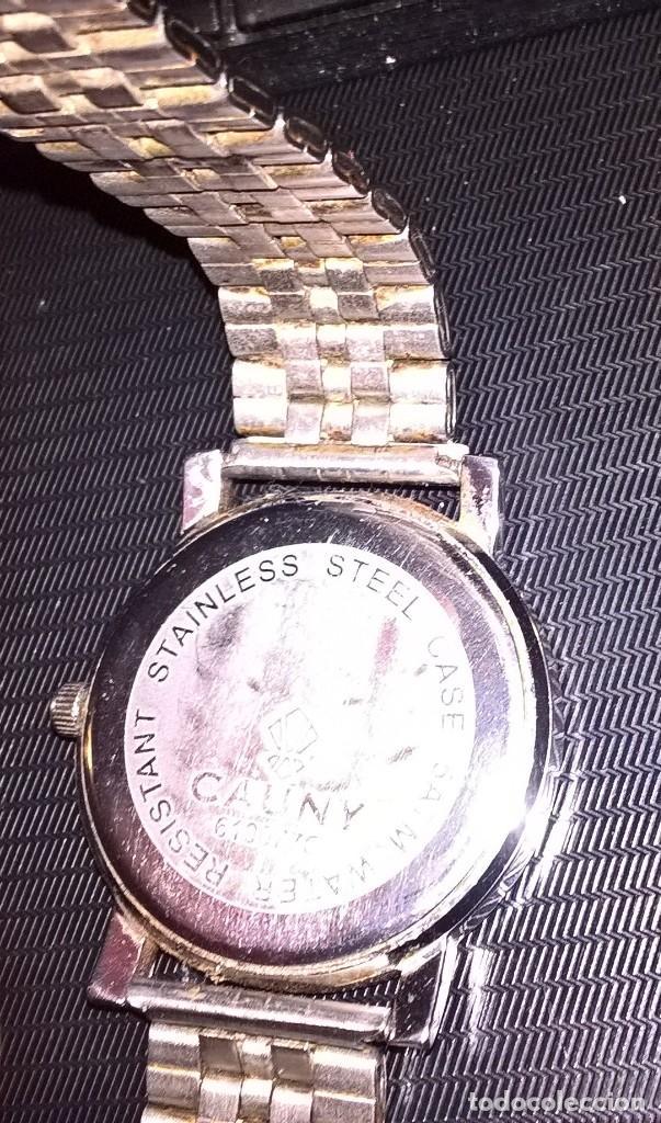 Relojes de pulsera: RELOJ CAUNY. MODELO 610077C. FUNCIONA CON PILA. EN FUNCIONAMIENTO. ESCUDO REAL UNION CLUB DE IRUN. - Foto 4 - 150796050