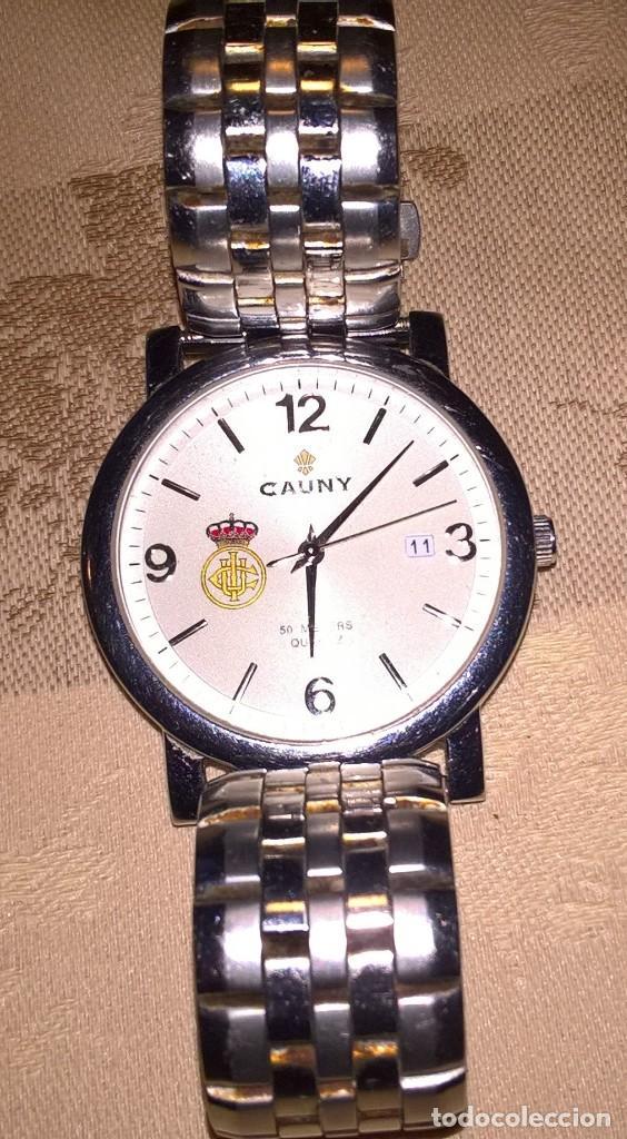 Relojes de pulsera: RELOJ CAUNY. MODELO 610077C. FUNCIONA CON PILA. EN FUNCIONAMIENTO. ESCUDO REAL UNION CLUB DE IRUN. - Foto 6 - 150796050