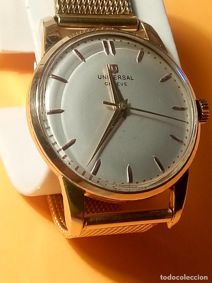 Relojes de pulsera: UNIVERSAL GENEVE - 1.942/49 - (((P.ORO - 30 MICRONES))) CALI. 262 - 34.50 S/C. AUTENTICO. MANUAL. FO - Foto 2 - 133534222