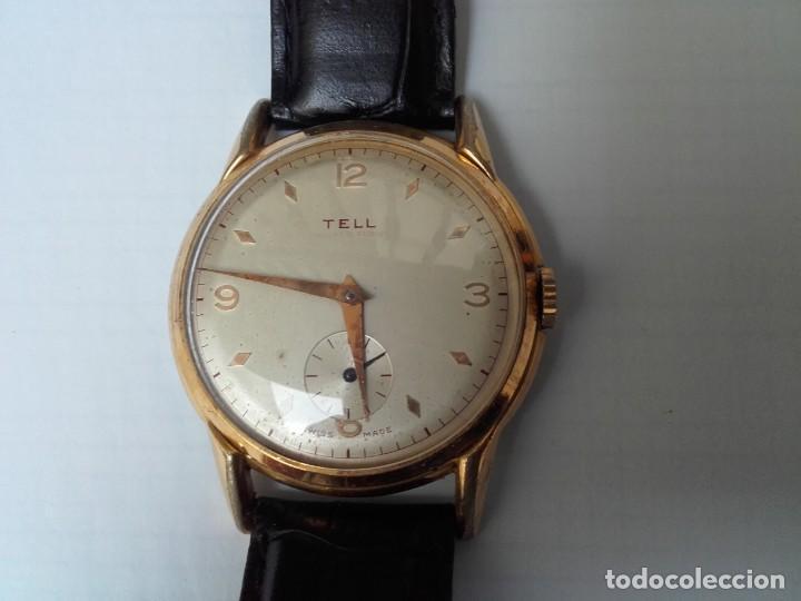 RELOJ GRANDE TELL MOVIMIENTO AS 1130 VINTAGE 38MM SIN CONTAR CORONA BUEN ESTADO (Uhren - Armbanduhren)