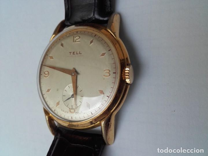 Armbanduhren: Reloj grande TELL movimiento AS 1130 vintage 38mm sin contar corona buen estado - Foto 3 - 150985170