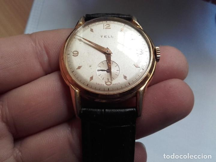 Armbanduhren: Reloj grande TELL movimiento AS 1130 vintage 38mm sin contar corona buen estado - Foto 9 - 150985170