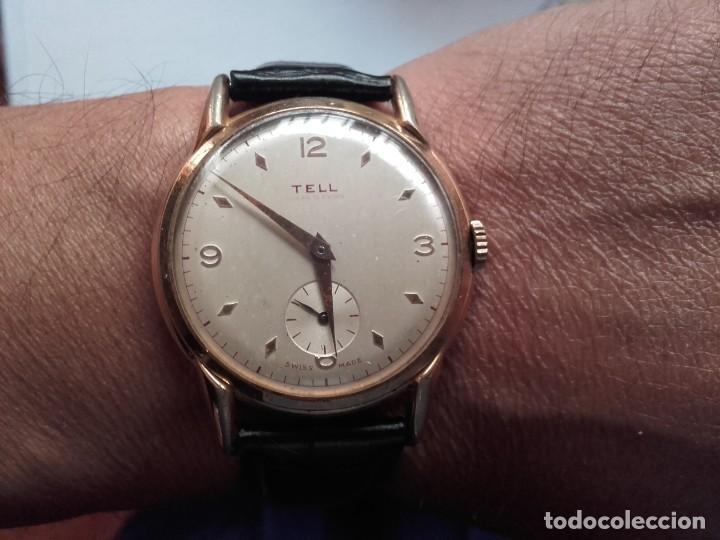 Armbanduhren: Reloj grande TELL movimiento AS 1130 vintage 38mm sin contar corona buen estado - Foto 10 - 150985170