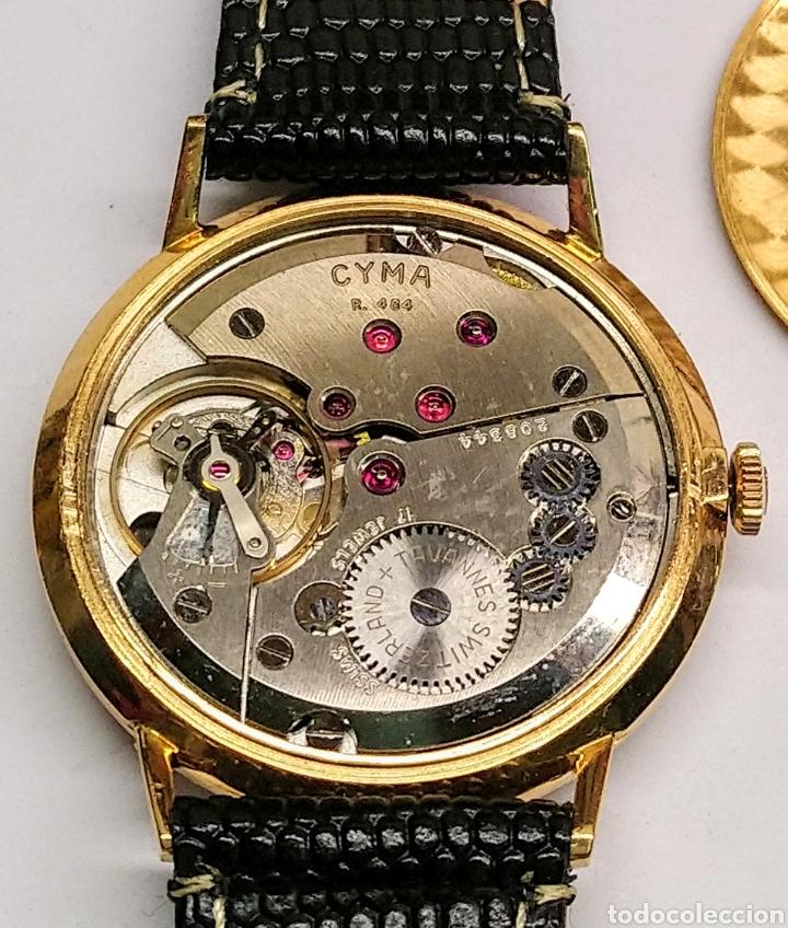Relojes de pulsera: Reloj Cyma cuerda manual oro 18 kts. 15 grms. - Foto 4 - 150950278
