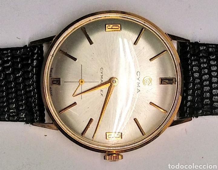 Relojes de pulsera: Reloj Cyma cuerda manual oro 18 kts. 15 grms. - Foto 2 - 150950278