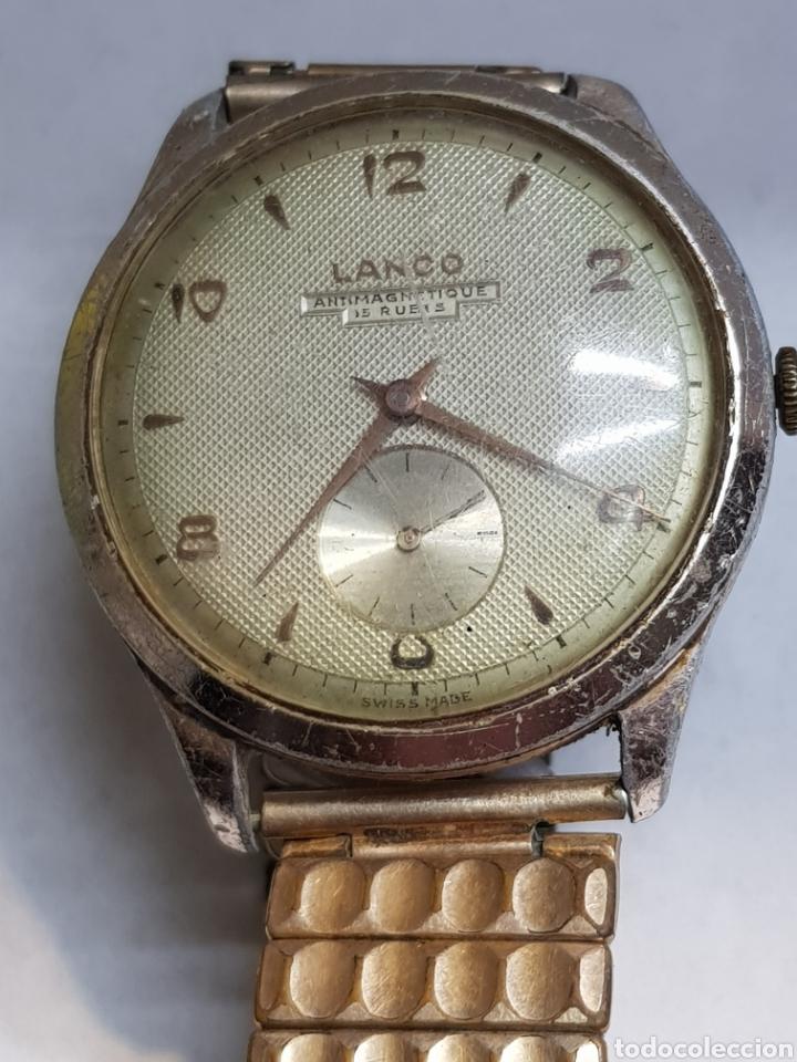 RELOJ CUERDA CABALLERO GRANDE LANCO 15 RUBIS FUNCIONANDO (Relojes - Pulsera Carga Manual)
