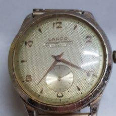Relojes de pulsera: RELOJ CUERDA CABALLERO GRANDE LANCO 15 RUBIS FUNCIONANDO. Lote 151004424