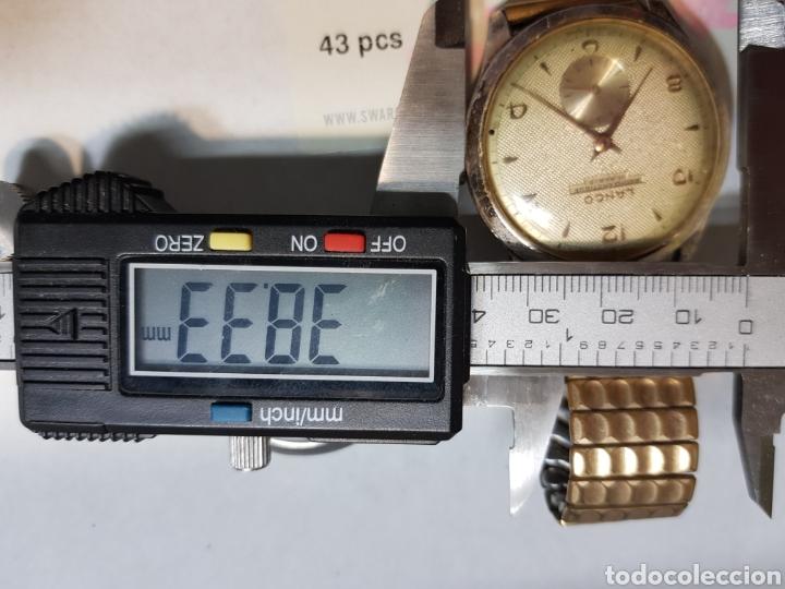 Relojes de pulsera: Reloj Cuerda Caballero grande Lanco 15 Rubis funcionando - Foto 6 - 151004424