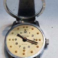 Relojes de pulsera: RELOJ CUERDA ANTIGUO PARA CIEGOS CON BRAILLE THERMIDOR MUY RARO. Lote 181537651
