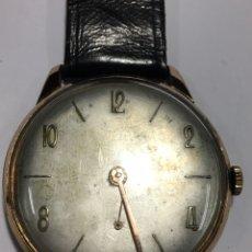 Relojes de pulsera: RELOJ CARGA MANUAL MAQUINARIA SWISS MADE ANTIGUO CAJA CHAPADA, EN FUNCIONAMIENTO. Lote 151392676