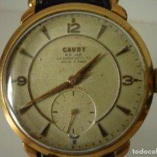 Relojes de pulsera: RELOJ CAUNY PRIMA ANCRE 15 RUBIS, DE CABALLERO TAMAÑO GRANDE.. Lote 151397542