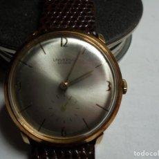 Relojes de pulsera: MAGNIFICO ANTIGUO RELOJ DE ORO DE 18K UNIVERSAL GENEVE,FUNCIONANDO,SALIDA 1 EURO. Lote 151459726