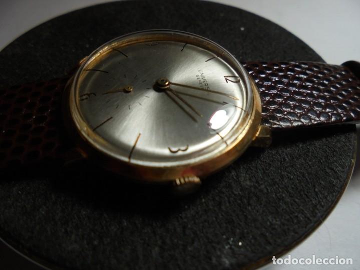 Armbanduhren: magnifico antiguo reloj de oro de 18k universal geneve,funcionando,salida 1 euro - Foto 2 - 151459726