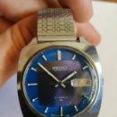 Relojes de pulsera: RELOJ PARA HOMBRE VINTAGE SEIKO AUTOMATIC 19 JEWELS - PRECIOSA ESFERA TONALIDADES COLOR AZUL. Lote 151640778