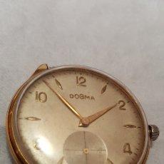 Relojes de pulsera: RELOJ DOGMA 15RUVIS CHAPADO 10MICRAS ORO DE CUERDA DIAMETRO 38MILITRS NO FUNCIONA. Lote 151711030