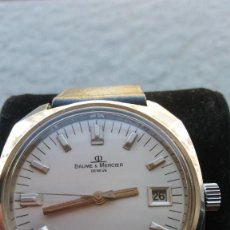 Relojes de pulsera: BAUME &MERCIER GENEVE 17 JEWELSNEW ORIGINAL STRAP BAUME MERCIER + BUCKLE . Lote 152488002