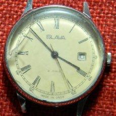 Relojes de pulsera: ANTIGUO RELOJ RUSO – URSS – CCCP – MARCA SLAVA - 21 JEWELS – 40 X 38 MM. Lote 152700710