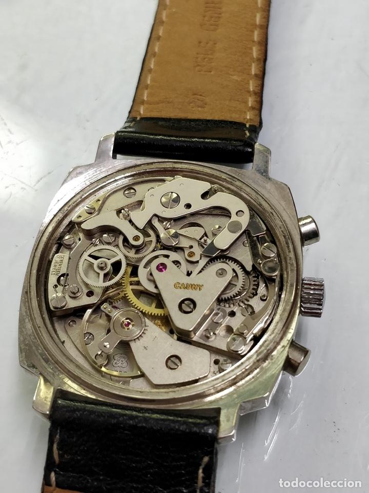 Relojes de pulsera: RELOJ CAUNY SWISS CRONOMETRO WATERPROOF ANTICHOC 17 RUBIS - Foto 3 - 53178252