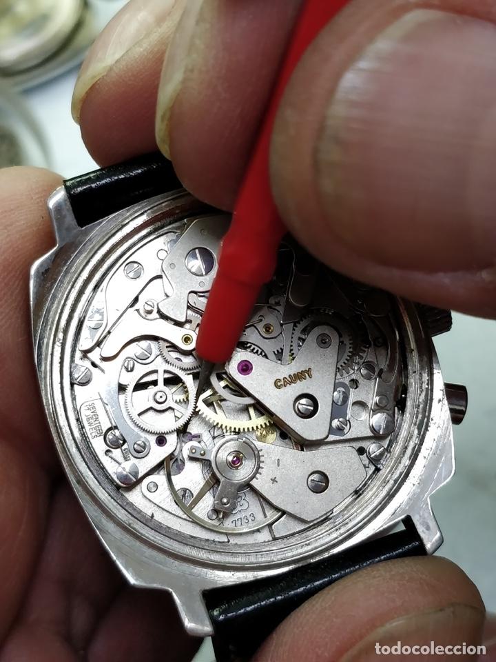 Relojes de pulsera: RELOJ CAUNY SWISS CRONOMETRO WATERPROOF ANTICHOC 17 RUBIS - Foto 4 - 53178252