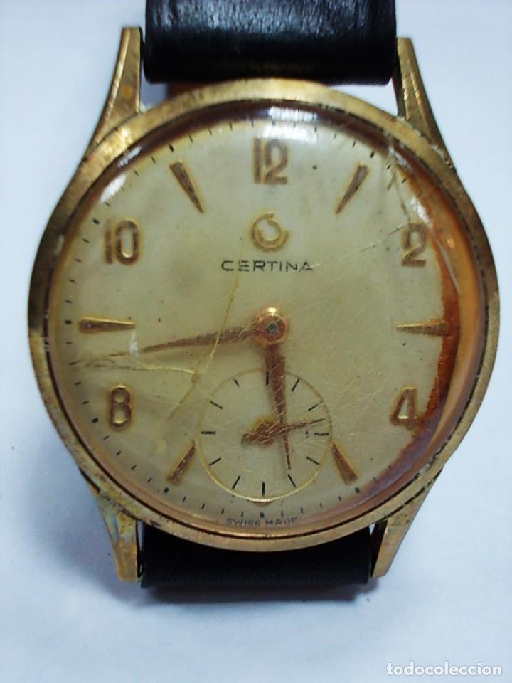 RELOJ CERTINA ANTIGUO CON SEGUNDERO SIN TIJA (Relojes - Pulsera Carga Manual)