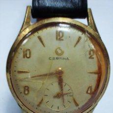 Relojes de pulsera: RELOJ CERTINA ANTIGUO CON SEGUNDERO SIN TIJA. Lote 153224438