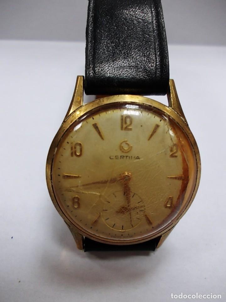 Relojes de pulsera: Reloj Certina antiguo con segundero sin tija - Foto 2 - 153224438