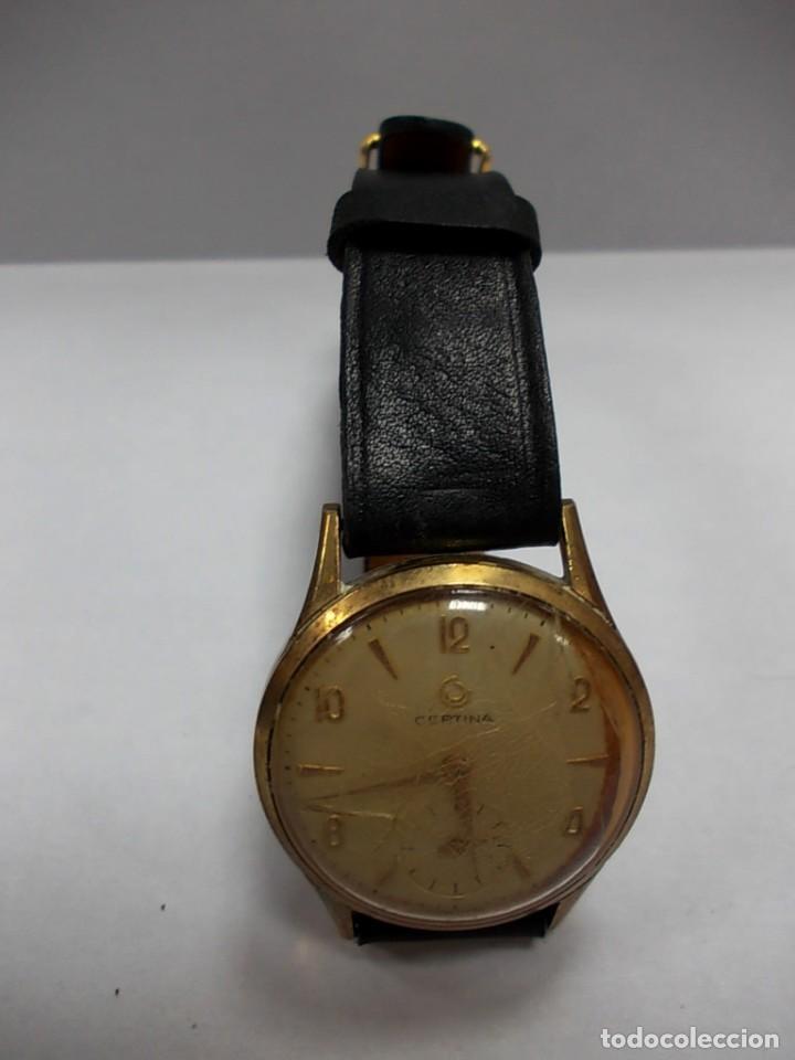 Relojes de pulsera: Reloj Certina antiguo con segundero sin tija - Foto 3 - 153224438