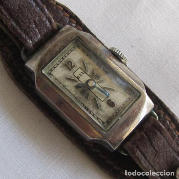 RELOJ DE SEÑORA SIL EN PLATA FUNCIONANDO (Relojes - Pulsera Carga Manual)