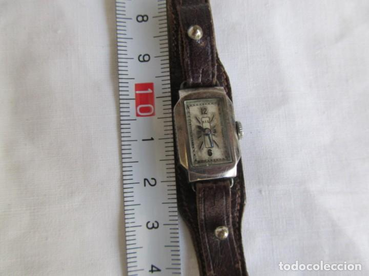 Relojes de pulsera: Reloj de señora Sil en plata funcionando - Foto 2 - 153537206