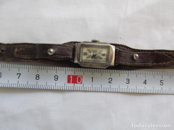 Relojes de pulsera: Reloj de señora Sil en plata funcionando - Foto 3 - 153537206