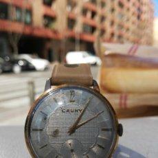 Relojes de pulsera: ANTIGUO RELOJ CAUNY AÑOS 50-60, CUERDA FUNCIONA PERFECCIÓN. Lote 153547794