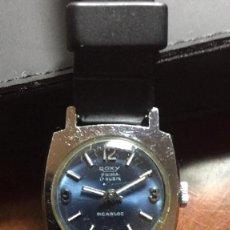 Relojes de pulsera: RELOJ ROXY PRIMA INCABLOC SWISS MADE CARGA MANUAL FUNCIONANDO. Lote 153733326