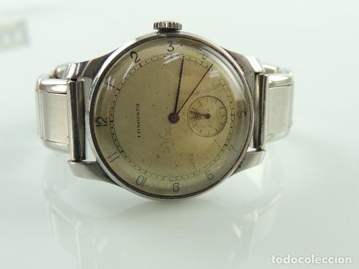 ANTIGUO RELOJ DE PULSERA DE HOMBRE MARCA LONGINES EXCELENTE PIEZA DE COLECCION (Relojes - Pulsera Carga Manual)