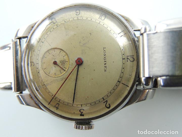 Relojes de pulsera: ANTIGUO RELOJ DE PULSERA DE HOMBRE MARCA LONGINES EXCELENTE PIEZA DE COLECCION - Foto 10 - 153820810