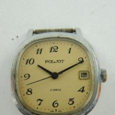 Relojes de pulsera: RELOJ PULSERA A CUERDA MARKA POLJOT 17 JEWELS VINTAGE AÑOS 60 UNION SOVIETICA CON CALENDARIO. Lote 153837762