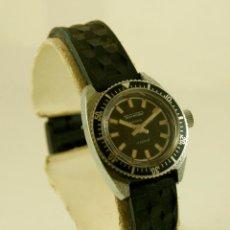 Relojes de pulsera: THERMIDOR MECANICO TIPO DIVER CON CORREA ORIGINAL CAUCHO. Lote 153943230