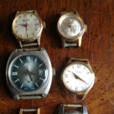 Relojes de pulsera: LOTE 6 RELOJES DAMA CARGA MANUAL. CHANG, TITAN, DUWARD Y OTROS. Lote 154103354