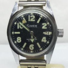 Relojes de pulsera: RELOJ VINTAGE KIMER DE CARGA MANUAL - CAJA 30 MM - FUNCIONA CORRECTAMENTE. Lote 154832154