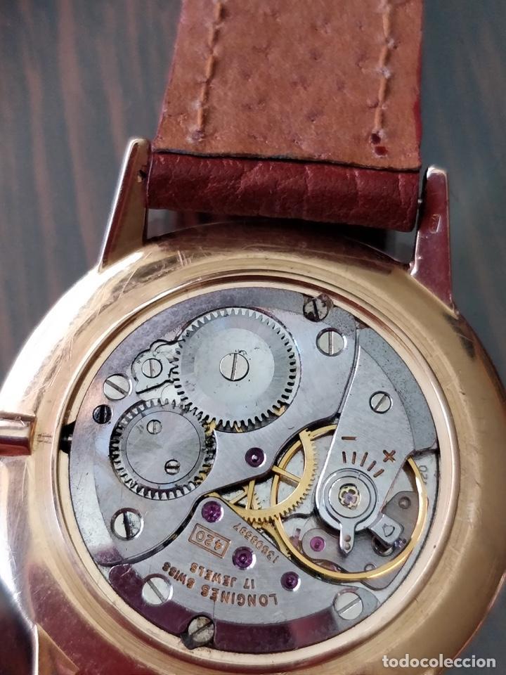 Longines Corona Y De Movimiento Con 420 Reloj Hebilla OriginalesOro 18k HD29IWE