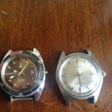 Relojes de pulsera: DOS RELOJES DIAMANT CABALLERO. UNO DE VESTIR Y OTRO DIVER.. Lote 154979310