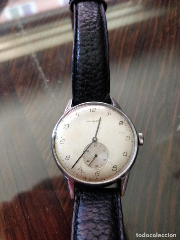 ANTIGO RELOJ MOVADO DE ACERO INOXIDABLE, 15 RUBIES, CAL. 75 ESFERA 3,5 CM. (Relojes - Pulsera Carga Manual)
