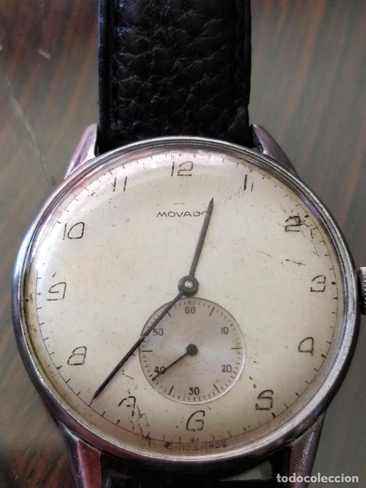 Relojes de pulsera: Antigo reloj MOVADO de acero inoxidable, 15 rubies, CAL. 75 Esfera 3,5 cm. - Foto 2 - 155058290