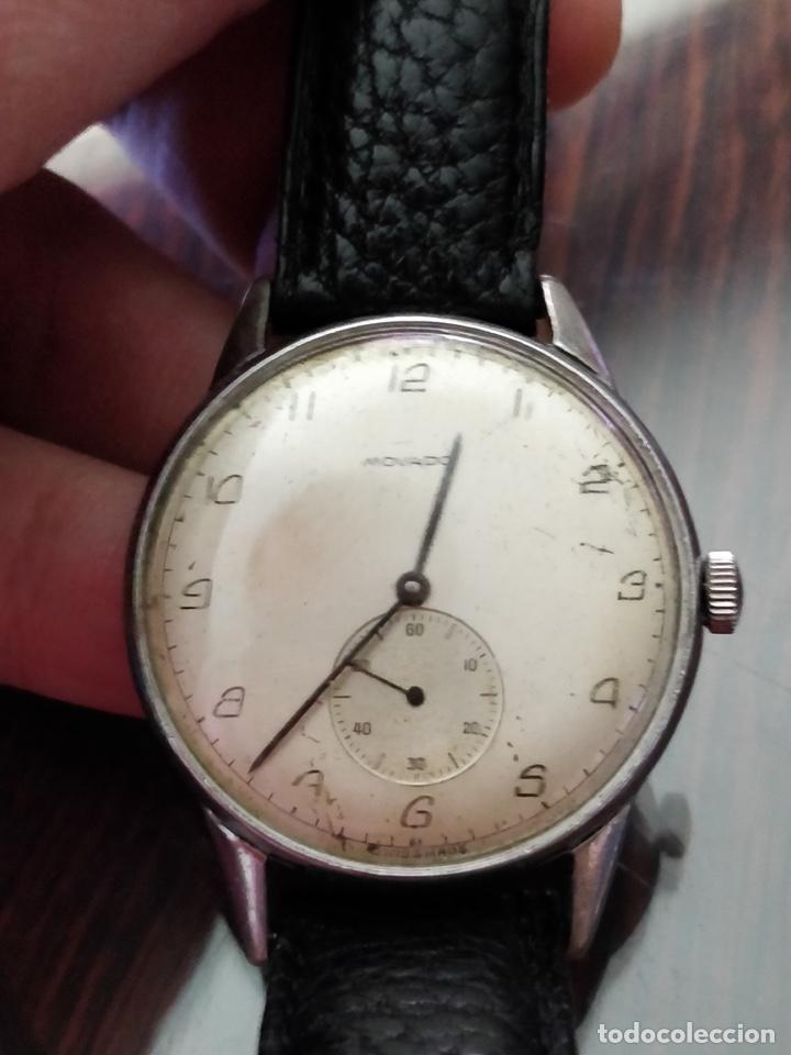 Relojes de pulsera: Antigo reloj MOVADO de acero inoxidable, 15 rubies, CAL. 75 Esfera 3,5 cm. - Foto 3 - 155058290
