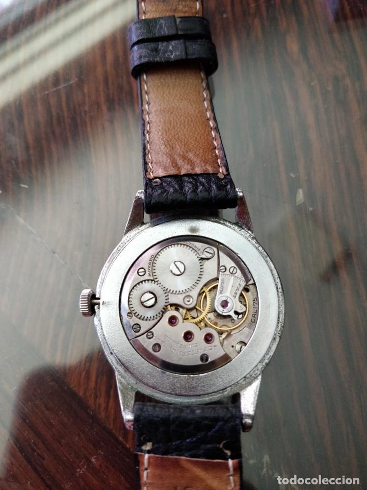 Relojes de pulsera: Antigo reloj MOVADO de acero inoxidable, 15 rubies, CAL. 75 Esfera 3,5 cm. - Foto 4 - 155058290