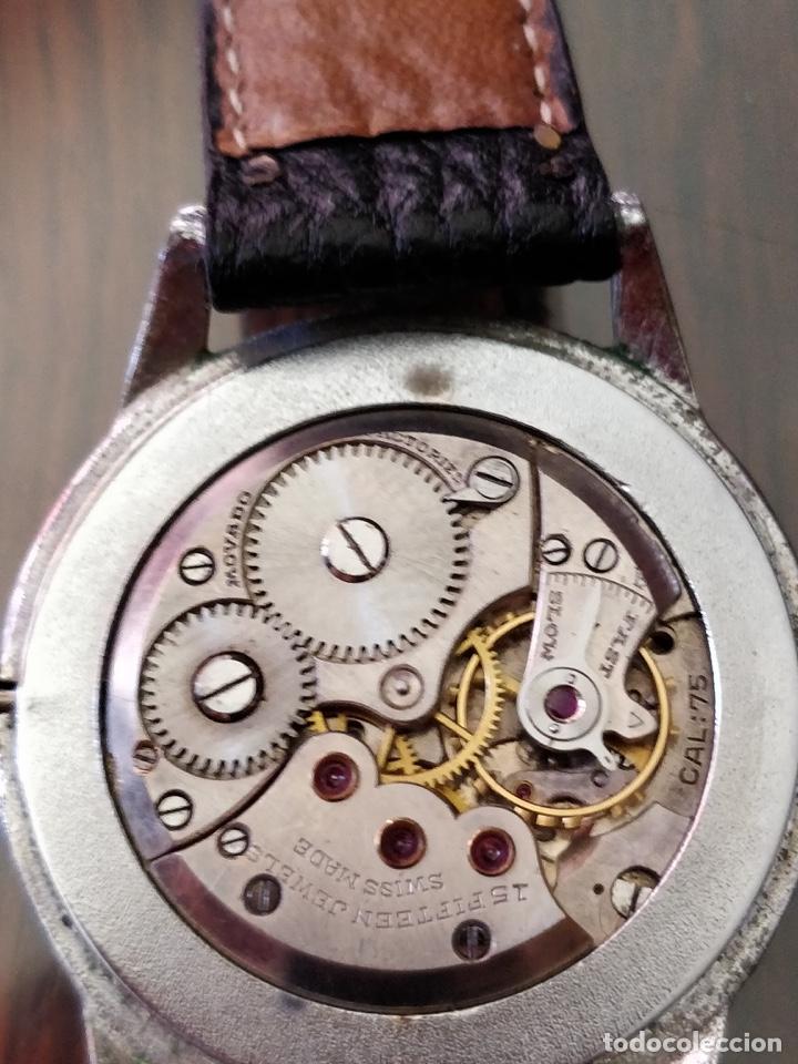 Relojes de pulsera: Antigo reloj MOVADO de acero inoxidable, 15 rubies, CAL. 75 Esfera 3,5 cm. - Foto 5 - 155058290