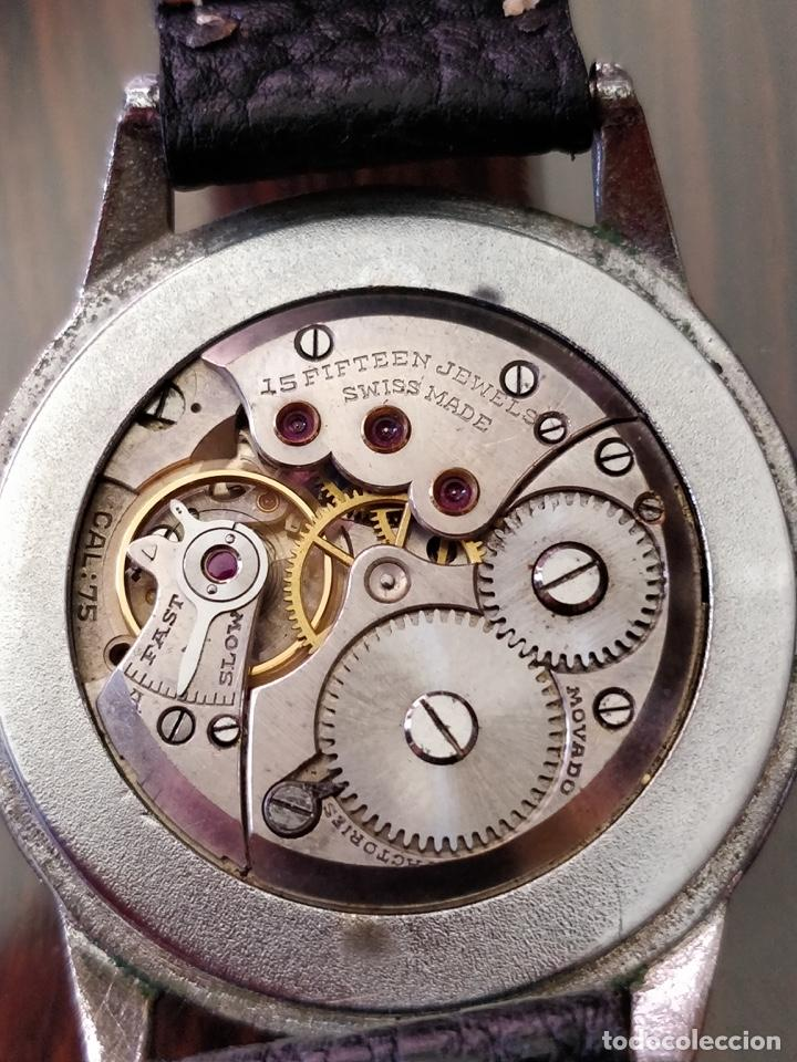 Relojes de pulsera: Antigo reloj MOVADO de acero inoxidable, 15 rubies, CAL. 75 Esfera 3,5 cm. - Foto 6 - 155058290