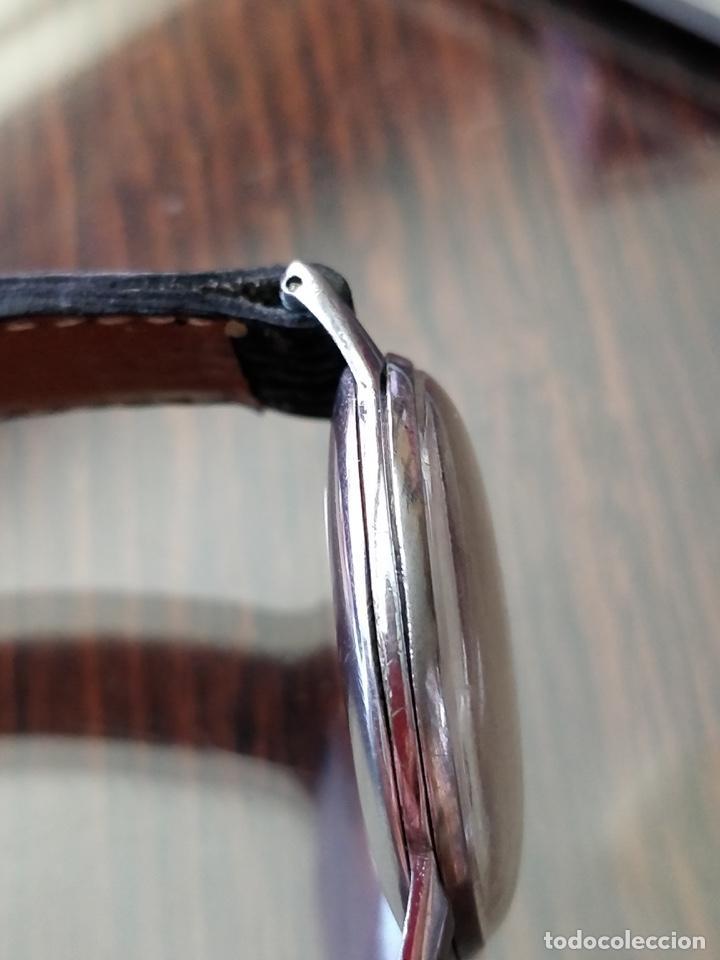 Relojes de pulsera: Antigo reloj MOVADO de acero inoxidable, 15 rubies, CAL. 75 Esfera 3,5 cm. - Foto 10 - 155058290