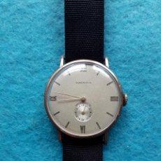 Relojes de pulsera: RELOJ MARCA NORMANA. CLÁSICO DE CABALLERO. FUNCIONANDO. ASAS FIJAS. Lote 155089666